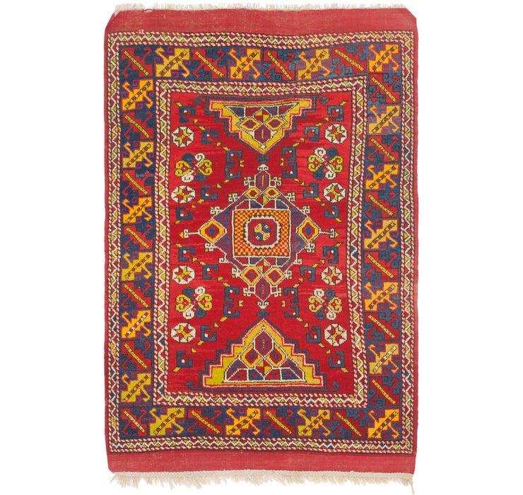 4' 7 x 7' Anatolian Oriental Runn...