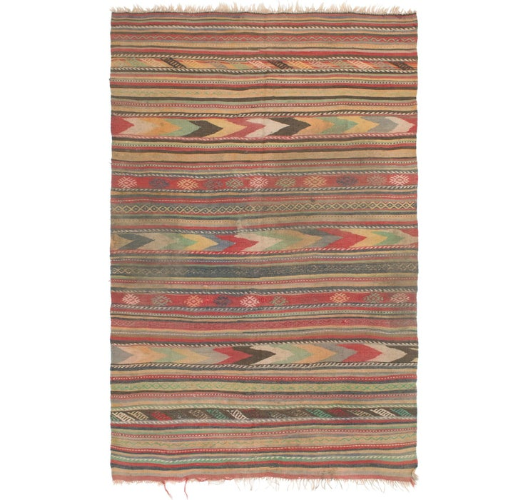 Image of 5' 6 x 8' 7 Kilim Fars Rug