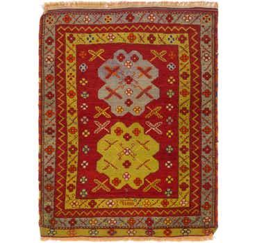 3' 4 x 4' 4 Anatolian Oriental Rug