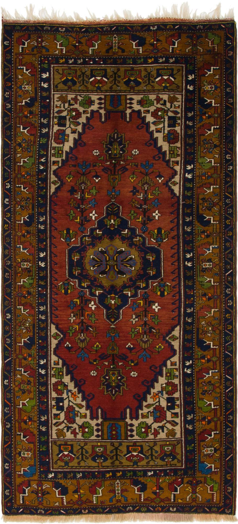 4' x 8' 7 Anatolian Oriental Runner Rug main image