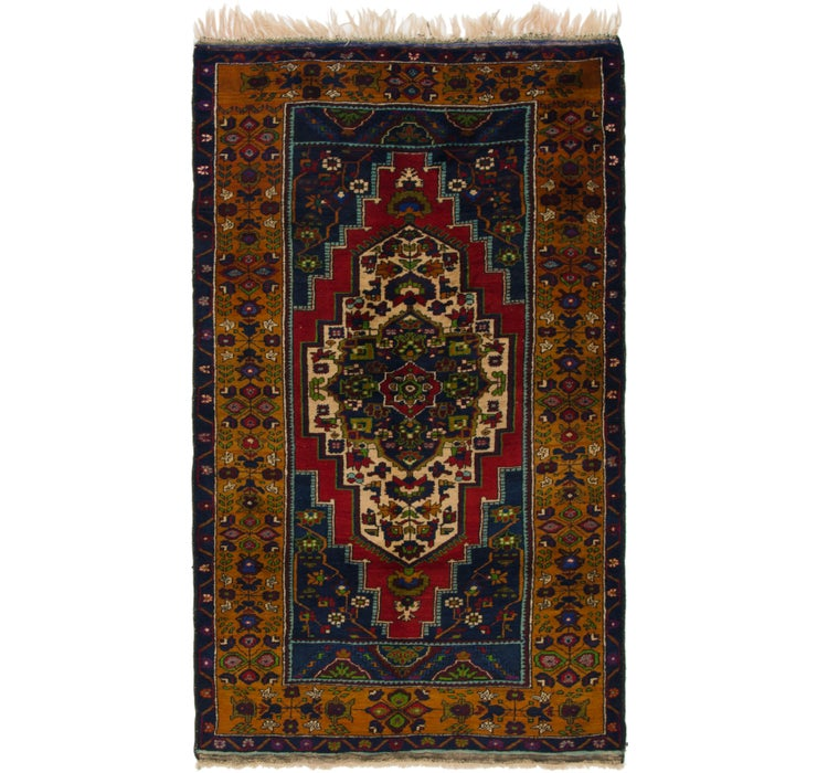 132cm x 235cm Anatolian Oriental Rug