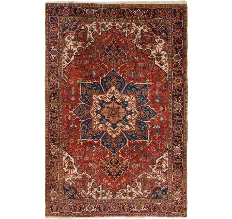 240cm x 353cm Heriz Persian Rug