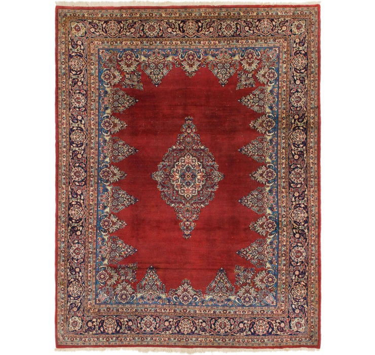 8' x 10' 6 Sarough Persian Rug
