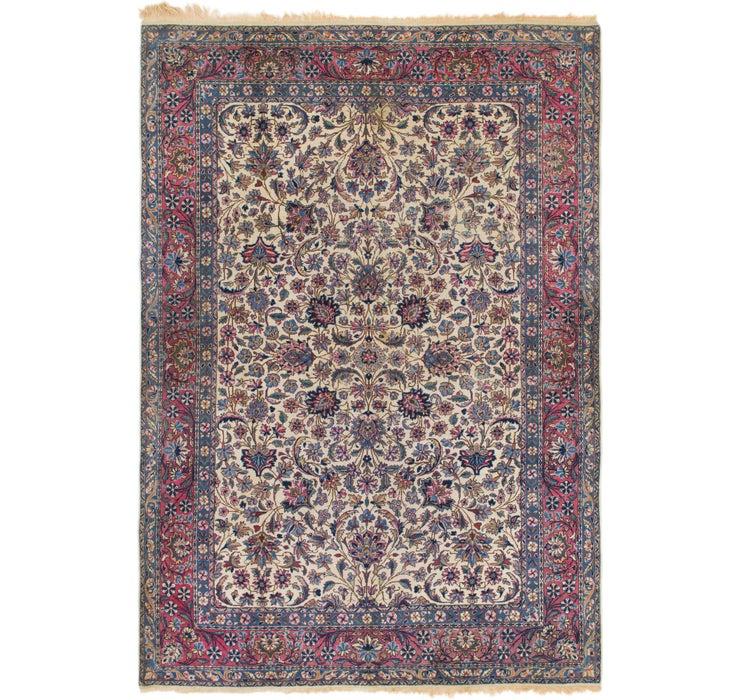 6' 9 x 9' 9 Sarough Persian Rug
