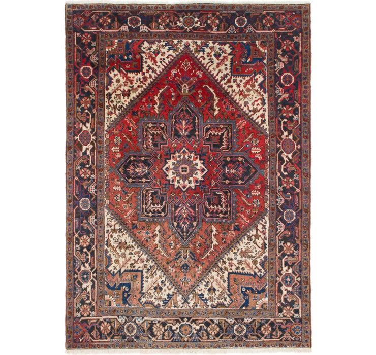 198cm x 282cm Heriz Persian Rug