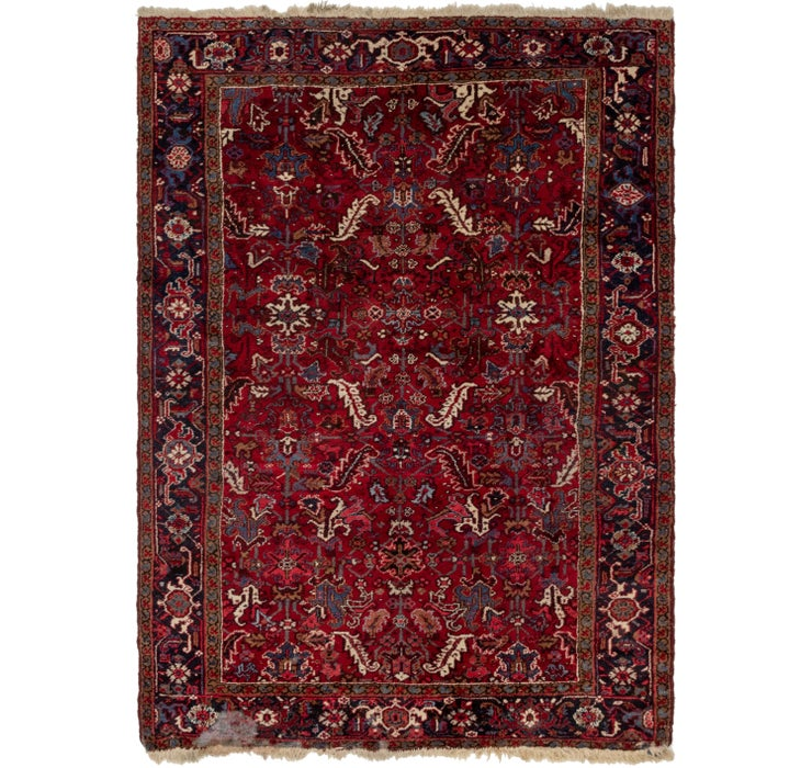 6' 8 x 9' Heriz Persian Rug