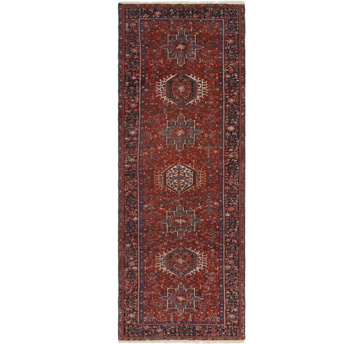 Image of 4' 6 x 12' 4 Gharajeh Persian Runner...