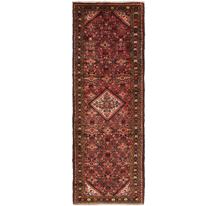 107cm x 323cm Hossainabad Persian Run...