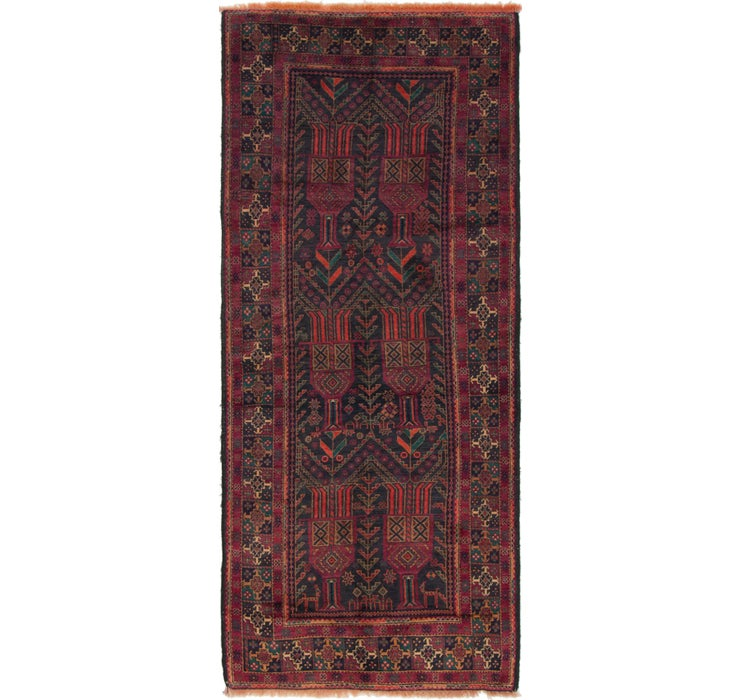 117cm x 285cm Shiraz Persian Runner Rug