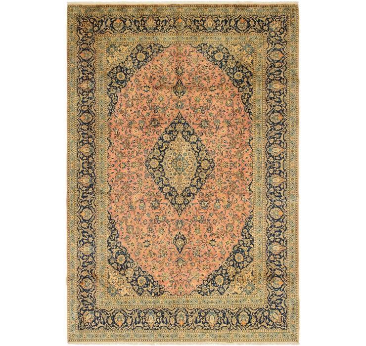 9' 6 x 13' 10 Kashan Persian Rug