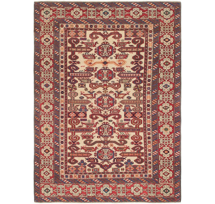 4' 6 x 6' 3 Shirvan Persian Rug