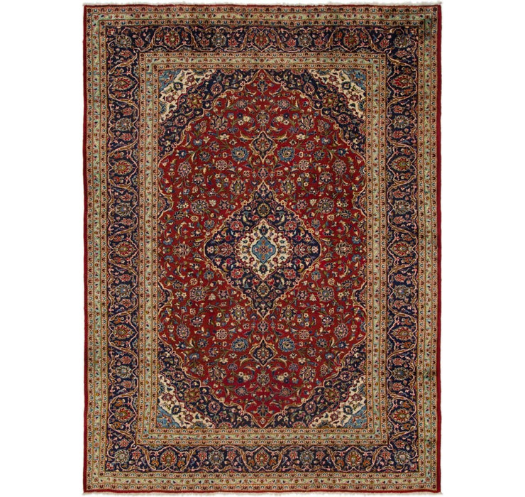 Image of 9' 5 x 12' 10 Kashan Persian Rug