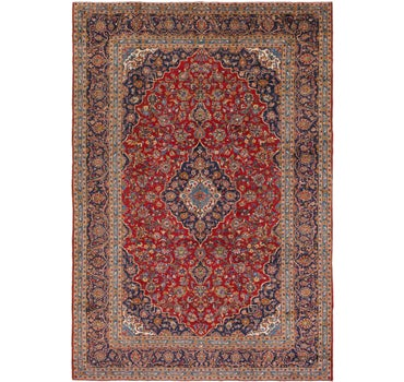 9' 8 x 14' Kashan Persian Rug main image