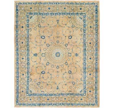 Image of 10' x 11' 5 Mashad Persian Square Rug