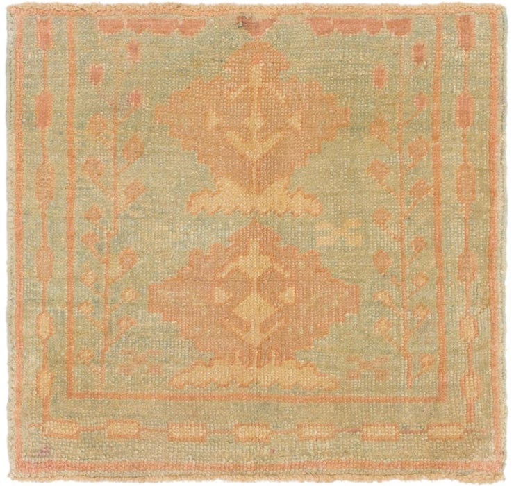 80cm x 85cm Oushak Square Rug