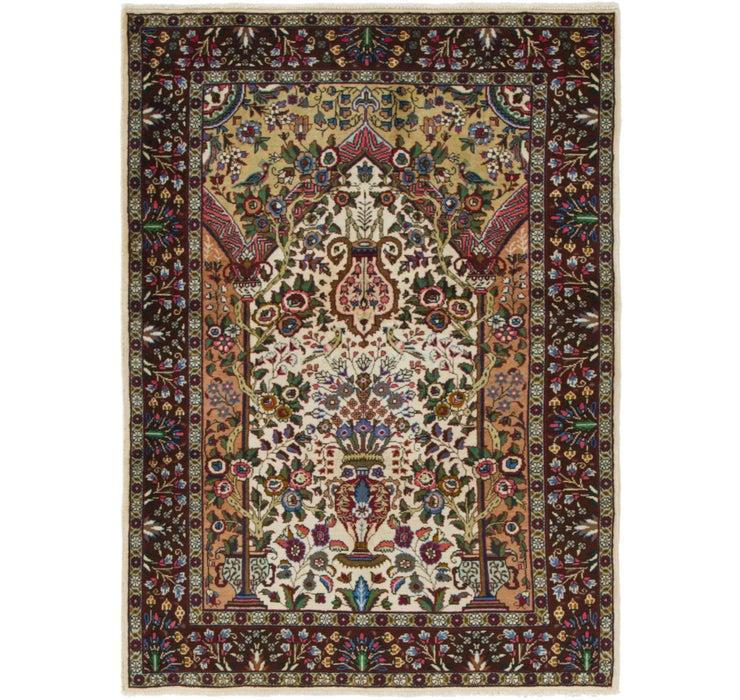 3' 4 x 4' 10 Tabriz Persian Rug