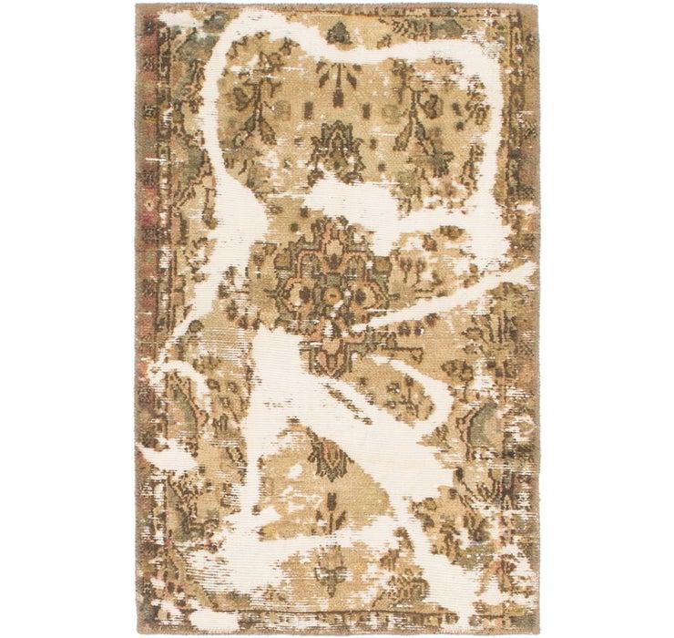 2' 3 x 3' 7 Ultra Vintage Persian Rug