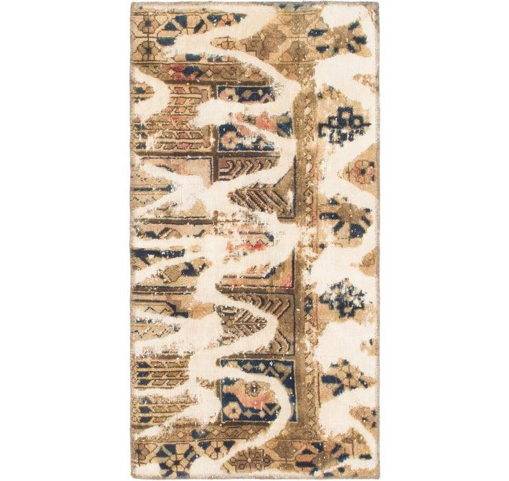 2' 4 x 4' 9 Ultra Vintage Persian Rug