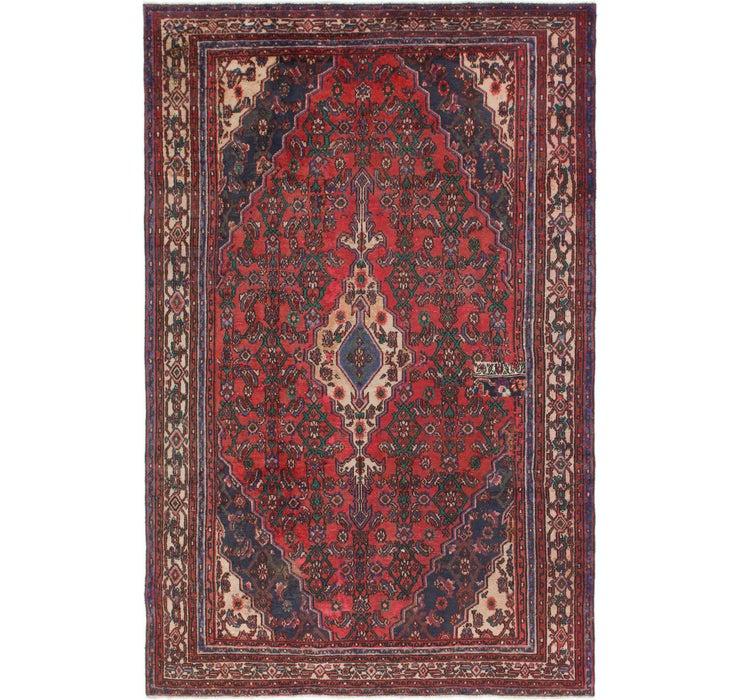 6' 6 x 10' Joshaghan Persian Rug