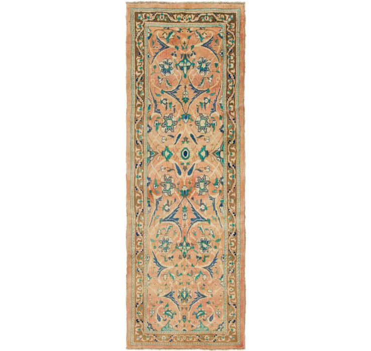 112cm x 310cm Mahal Persian Runner Rug