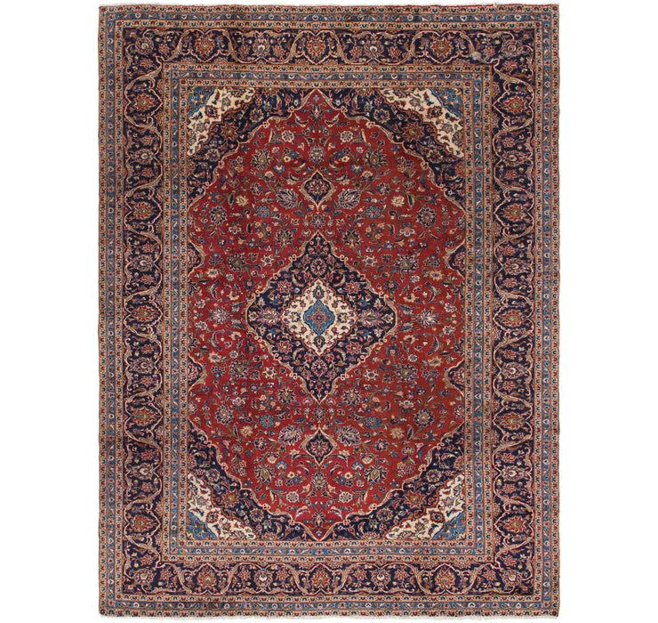 290cm x 390cm Kashan Persian Rug