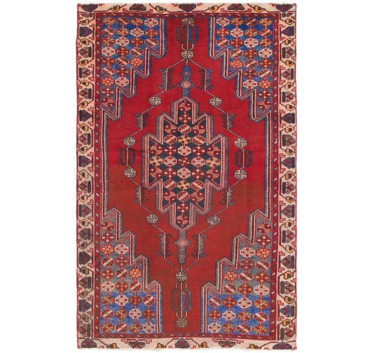 4' 2 x 6' 9 Mazlaghan Persian Rug