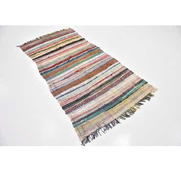 Image of 3' 8 x 7' Moroccan Runner Rug