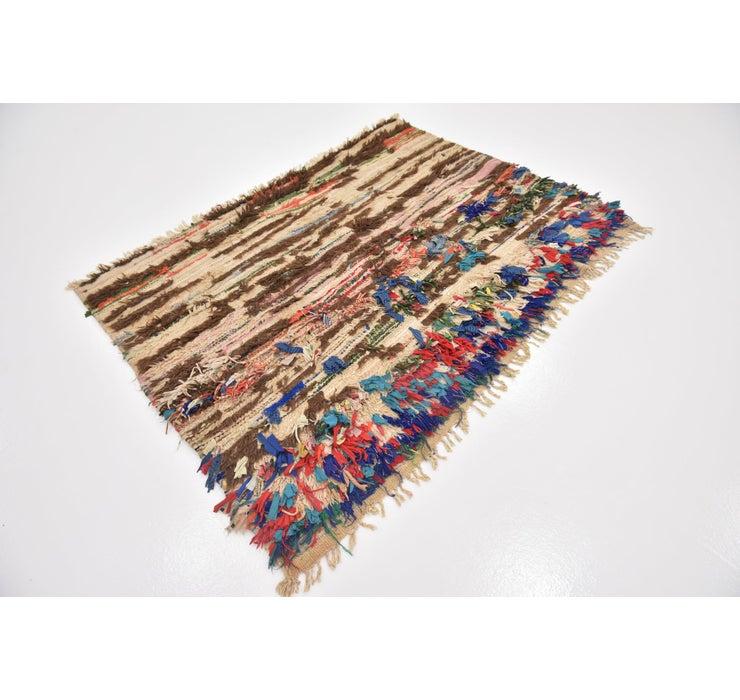 4' x 5' 8 Moroccan Rug