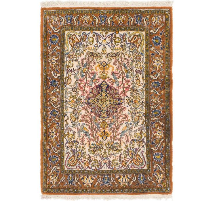 110cm x 157cm Qom Persian Rug