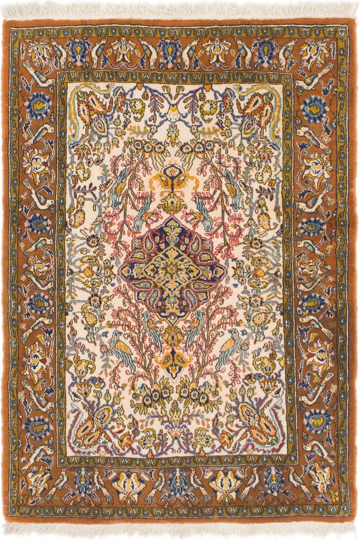 3' 7 x 5' 2 Qom Persian Rug main image