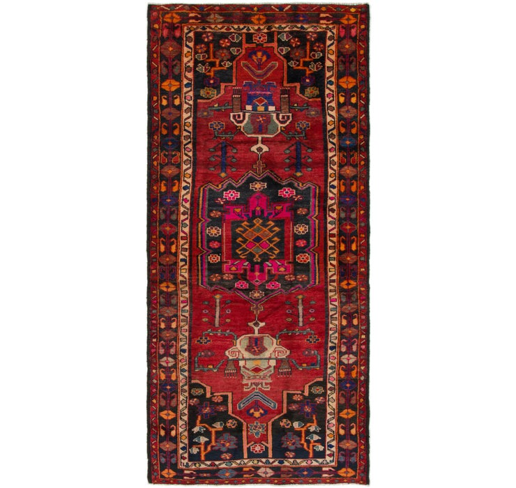 4' 3 x 9' 7 Shiraz Persian Runner Rug
