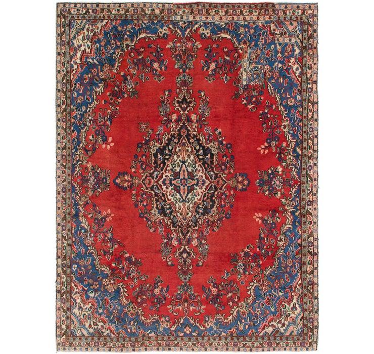 255cm x 343cm Hamedan Persian Rug