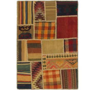 Image of  2' 9 x 4' Kilim Patchwork Rug