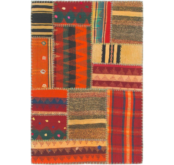 Image of 2' 10 x 4' 3 Kilim Patchwork Rug