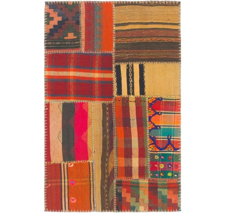 2' 8 x 4' Kilim Patchwork Rug