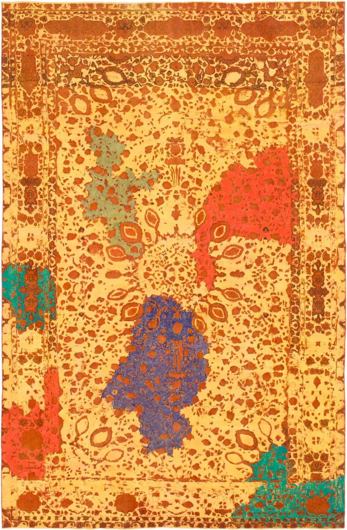 Yellow  10' x 15' Ultra Vintage Persian