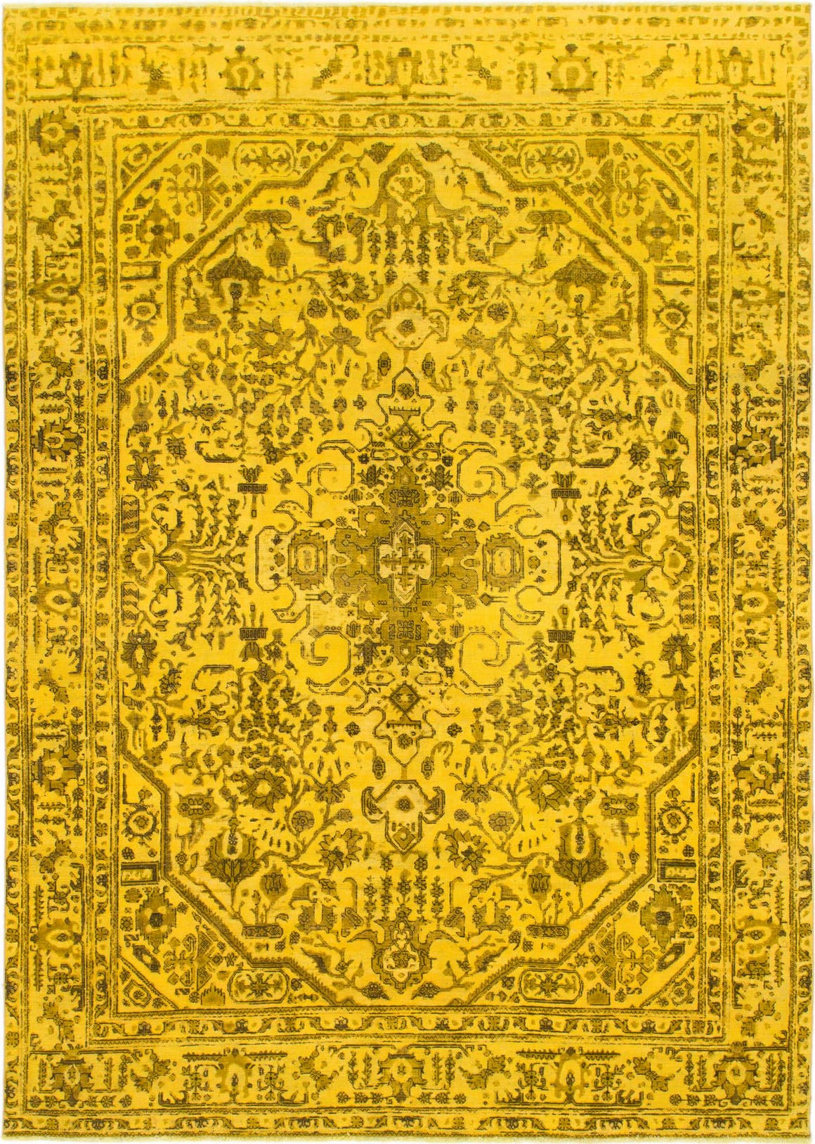 Yellow  7' 10 x 11' 4 Ultra Vintage Persian