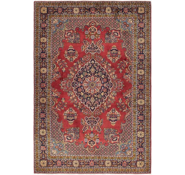 7' x 10' 6 Golpayegan Persian Rug