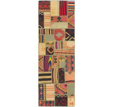 Image of 2' 10 x 8' 6 Kilim Patchwork Runner ...