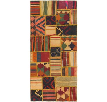 Image of 2' 10 x 6' 6 Kilim Patchwork Runner ...