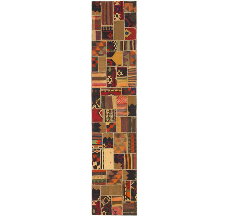 Image of 85cm x 417cm Kilim Patchwork Runner ...