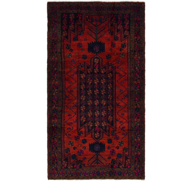 4' 9 x 9' Shiraz Persian Runner Rug