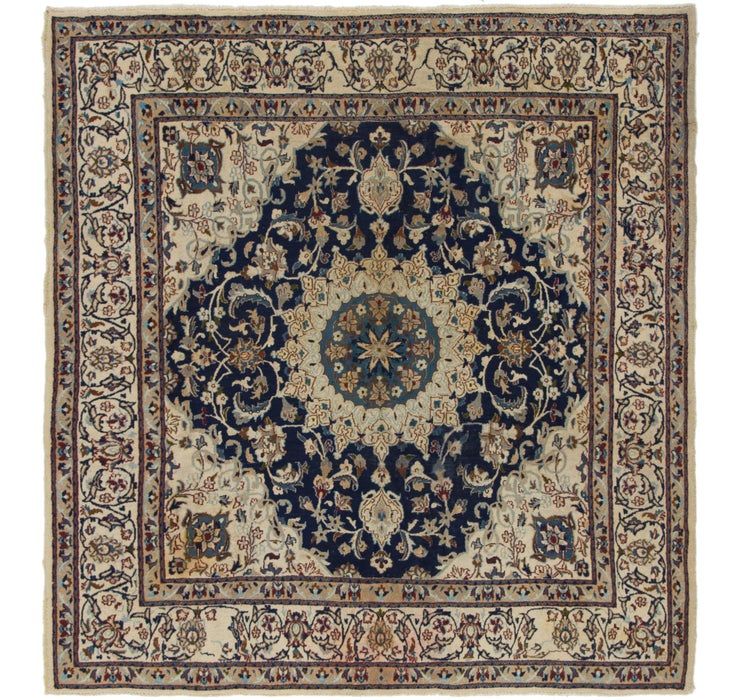 6' 3 x 6' 8 Nain Persian Square Rug