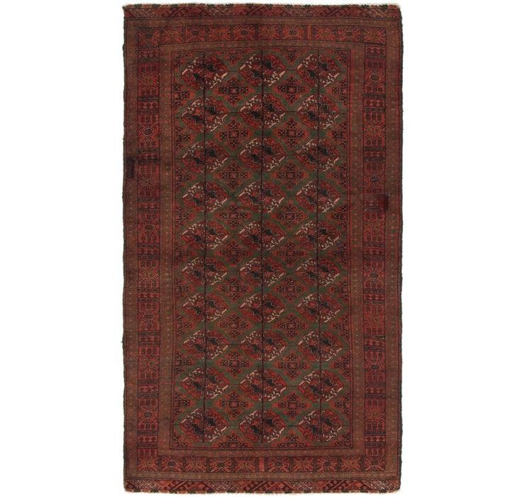 3' 7 x 6' 5 Torkaman Persian Rug