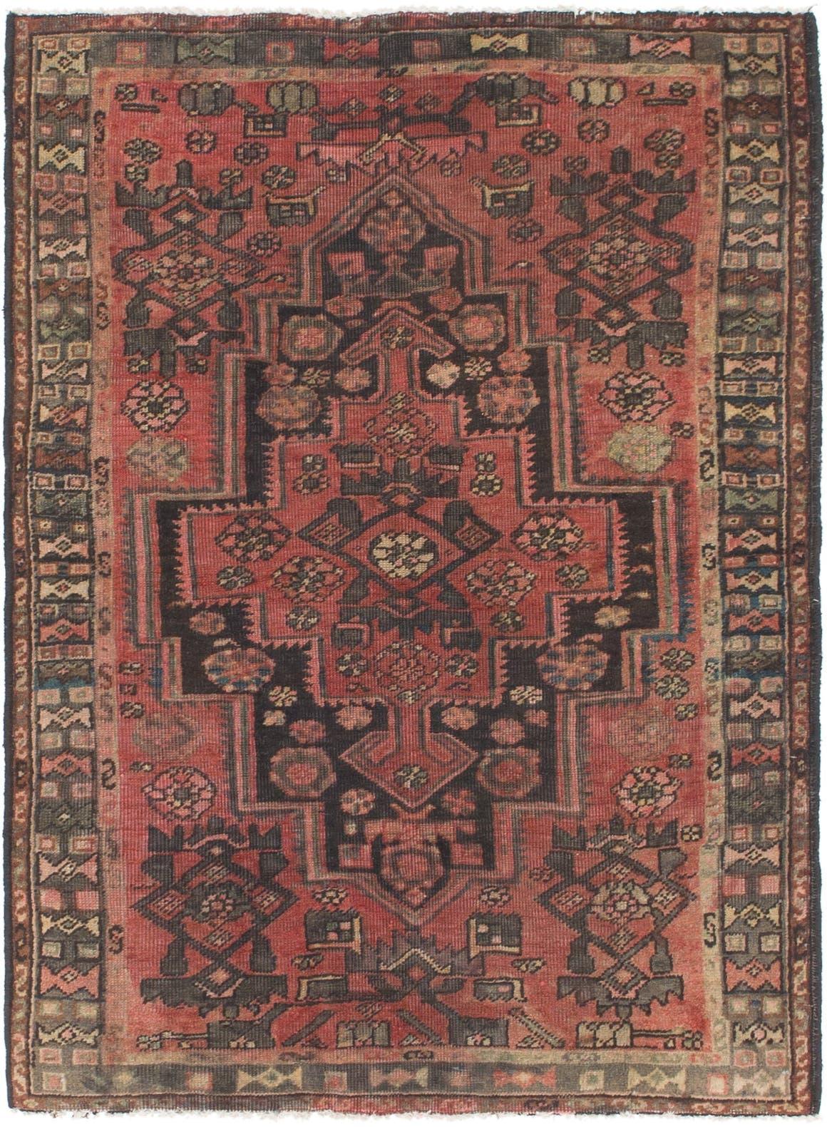 4' x 5' 8 Hamedan Persian Rug main image