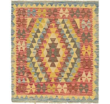 Image of 3' x 3' 8 Kilim Maymana Square Rug