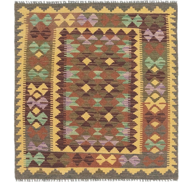 100cm x 107cm Kilim Maymana Square Rug