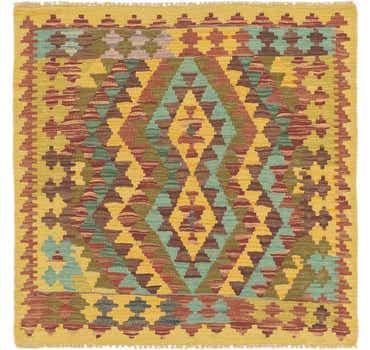 Image of 3' 3 x 3' 3 Kilim Maymana Square Rug
