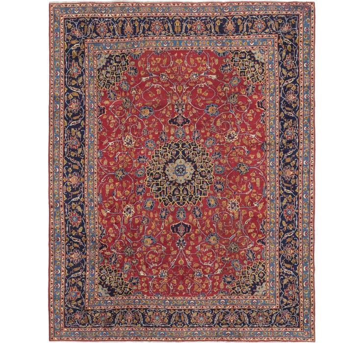 9' 8 x 12' 3 Kashan Persian Rug