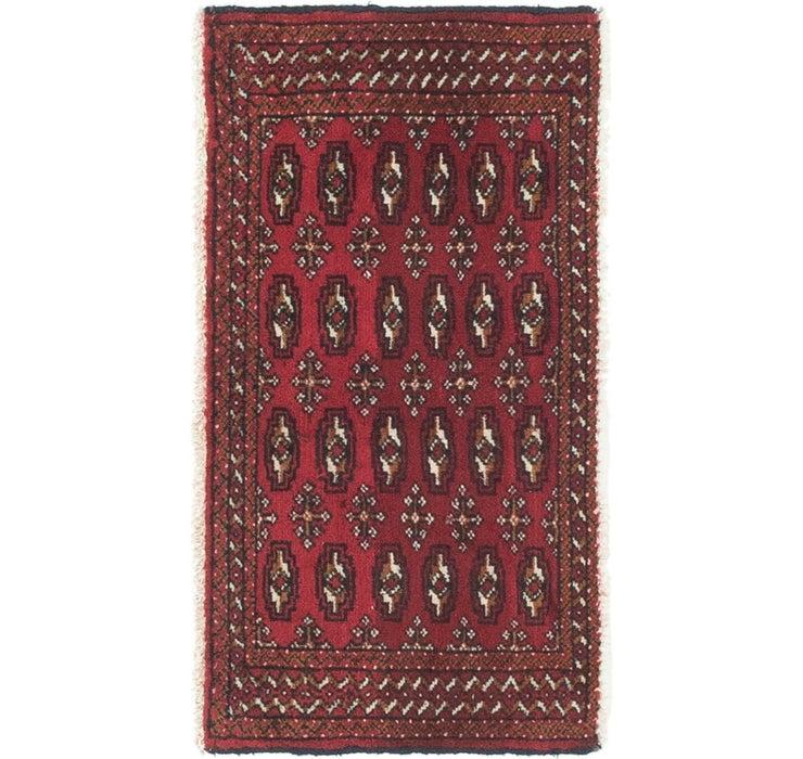 1' 8 x 3' 2 Torkaman Persian Rug